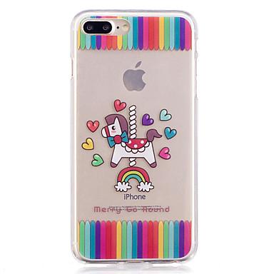 Hülle Für Apple iPhone 7 Plus iPhone 7 IMD Transparent Muster Rückseite Herz Cartoon Design Weich TPU für iPhone 7 Plus iPhone 7 iPhone