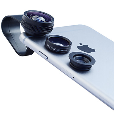 Mobiele telefoonlens Fish-eye lens Groothoeklens Macrolens 10X en groter
