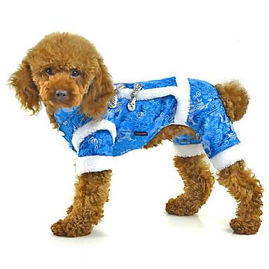 Câine Salopete Îmbrăcăminte Câini Brodată Rosu Albastru Roz Bumbac Jos Costume Pentru animale de companie Bărbați Pentru femei Casul /