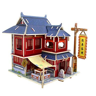 3D - Puzzle Holzpuzzle Haus Heimwerken Holz Naturholz Unisex Geschenk