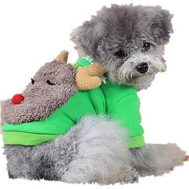 Hond Sweatshirt Hondenkleding Casual/Dagelijks Rendier Grijs Rood Groen