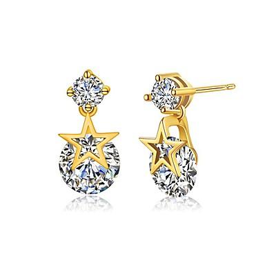 Pentru femei Cercei Stud Piatră Preţioasă Negru natural Diamant sintetic Personalizat Design Circular Design Unic Stil Atârnat Pandantiv