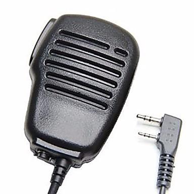 Rezistent la ploaie 2-pin umăr de la distanță microfon difuzor microfon ptt pentru kenwood wouxun puxing baofeng radio cu două căi 2pin