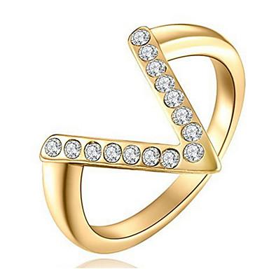 Pentru femei Verighete Cristal Design Basic Iubire Sexy La modă Personalizat Cute Stil bijuterii de lux Clasic Elegant Cristal Aliaj
