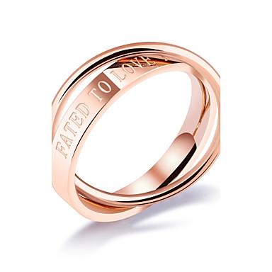 Pentru femei Verighete Zirconiu Cubic Design Basic Sexy La modă bijuterii de lux Clasic Oțel titan Circle Shape Bijuterii Pentru