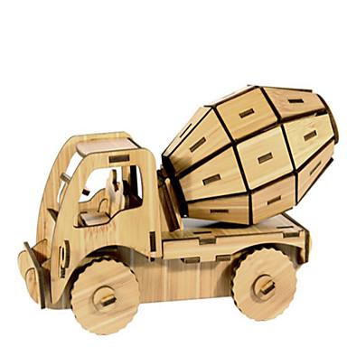 Speelgoedauto's 3D-puzzels Legpuzzel Houten modellen Automatisch 3D DHZ Hout Natuurlijk Hout Constructievoertuig Unisex Geschenk