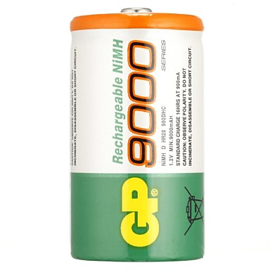 Gp wiederaufladbare batterie nimh 9000mah 1.2v