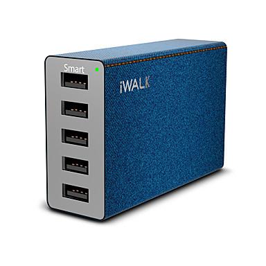 Încărcător USB K-MU018A 5 Stație încărcător de birou Cu identificare inteligentă Universal Adaptor de încărcare