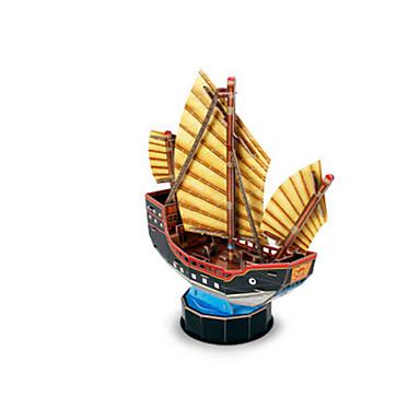 قطع تركيب3D تركيب نموذج الورق سفينة سفينة القراصنة 3D مواد تأثيث اصنع بنفسك EPS+EPU قرصان استايل صيني للجنسين هدية