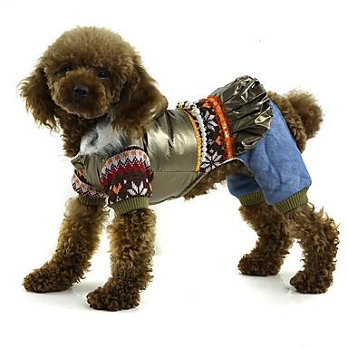 Hond Jumpsuits Hondenkleding Effen Goud Zwart Roze Polyesteri Kostuum Voor huisdieren Heren Dames Casual/Dagelijks
