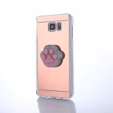Maska Pentru Samsung Galaxy Oglindă squishy Reparații Capac Spate Pisica Desene 3D Desene Animate Greu PC pentru Note 5 Note 4 Note 3