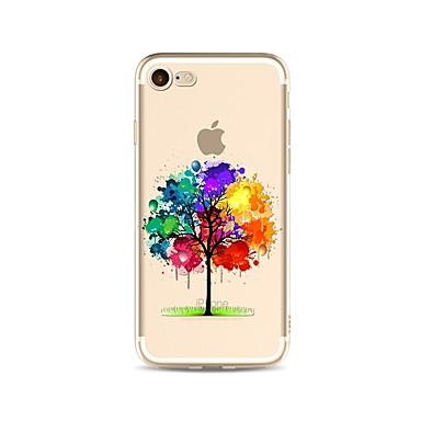 Maska Pentru Apple iPhone X iPhone 8 Plus Transparent Model Capac Spate culoare Gradient Copac Moale TPU pentru iPhone X iPhone 8 Plus