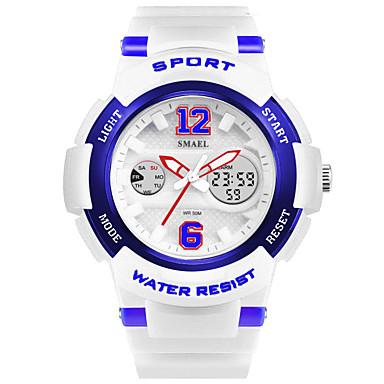 levne Pánské-SMAEL Pánské Sportovní hodinky Digitální hodinky Digitální Z umělé kůže Bílá / Modrá / Orange 50 m Žhavá sleva Analog - Digitál Přívěšky - Růžová Gold / White Navy / White
