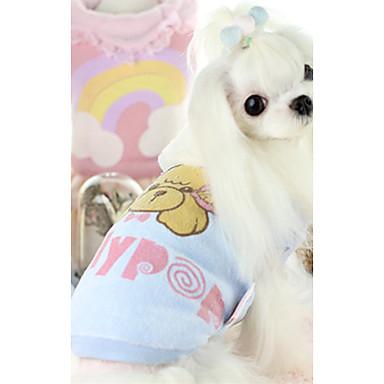 كلب سترة ملابس الكلاب كارتون أزرق زهري قطن بطانة فرو كوستيوم للحيوانات الأليفة كاجوال / يومي