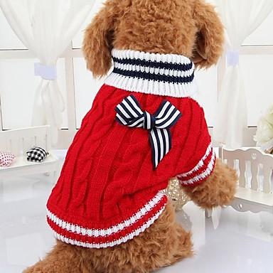 Hond Truien Hondenkleding Casual/Dagelijks Strik Rood Blauw