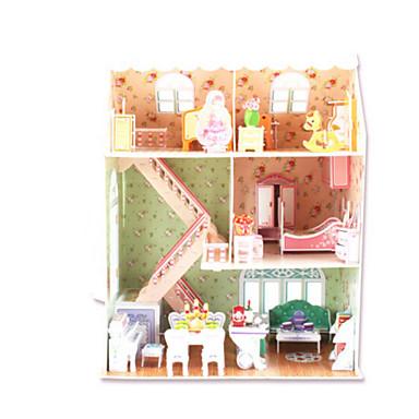 3D-puzzels Legpuzzel Architectuur 3D Natuurlijk Hout Unisex Geschenk