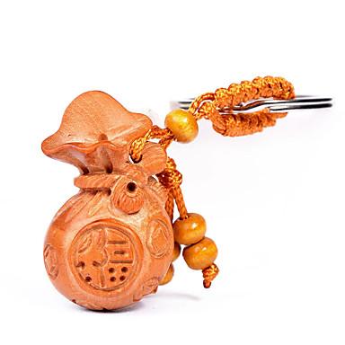 الحقيبة / الهاتف / المفاتيح سحر الكرتون لعبة النمط الصيني خشبية دي آيفون 8 7 سامسونج غالاكسي s8 s7