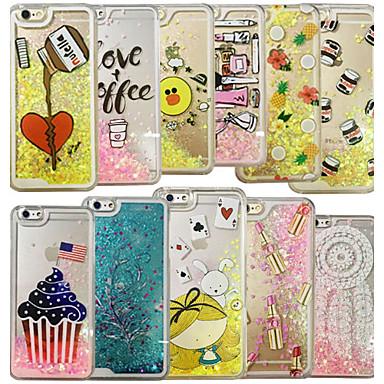 Voor case cover vloeiende vloeibare patroon achterkant hoesje hart hemel harde pc voor iphone 6s plus 6 plus 6s 6 5s zie 5 willekeurige