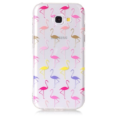 hoesje Voor Samsung Galaxy A5(2017) A3(2017) Transparant Patroon Achterkant Flamingo Zacht TPU voor A3 (2017) A5 (2017) A5(2016) A3(2016)