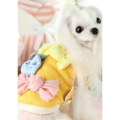 Hond Gilet Hondenkleding Casual/Dagelijks Strik Geel Fuchsia