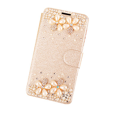 Για Θήκη iPhone 5 Στρας / με βάση στήριξης / Ανοιγόμενη tok Πλήρης κάλυψη tok Λουλούδι Σκληρή Συνθετικό δέρμα για AppleiPhone 7 Plus /