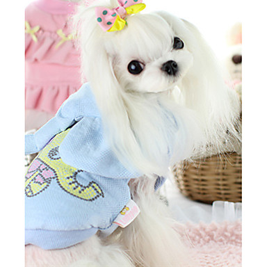 كلب سترة ملابس الكلاب دافئ كاجوال/يومي حيوان أزرق زهري كوستيوم للحيوانات الأليفة