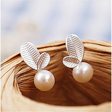 Pentru femei Hipoalergenic Perle Perle Plastic Cercei Stud - Confecționat Manual Hipoalergenic Modă Adorabil stil minimalist Alb și