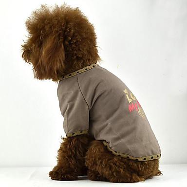 Câine Tricou Îmbrăcăminte Câini Casul/Zilnic Literă & Număr Galben Cafea Maro Costume Pentru animale de companie