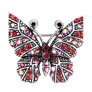Pentru femei Broșe Ștras Design Animal Aliaj Animal Fluture Bijuterii Pentru Petrecere Zilnic Casual Serată Birou și carieră