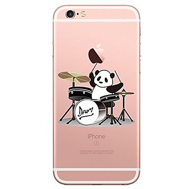 Caz pentru iphone 7 6 panda tpu soft ultra-subțire spate cover case cover iphone 7 plus 6 6s plus se 5s 5 5c 4s 4