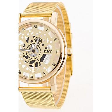 Bărbați Ceas de Mână Chineză Quartz Oțel inoxidabil Bandă Argint Auriu
