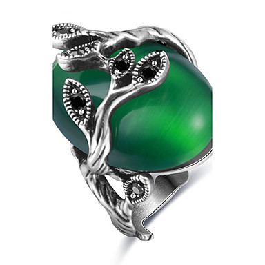 Damen Verlobungsring Ring Statement-Ring Synthetischer Opal Personalisiert Luxus Einzigartiges Design Klassisch Retro Böhmische