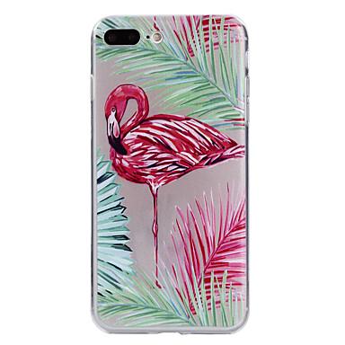 Case voor apple iphone 7 7 plus case cover flamingo patroon geverfd tpu materiaal zacht geval telefoon hoesje voor iphone 6s 6 plus zie 5s