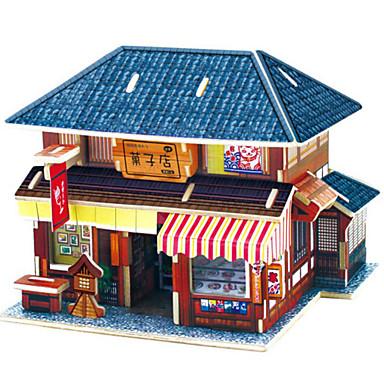 3D - Puzzle Holzpuzzle Holzmodell Modellbausätze Spielzeuge Auto Haus Architektur 3D 3D Heimwerken Holz Naturholz Unisex Stücke