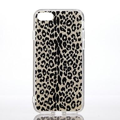 Maska Pentru Apple Anti Șoc Model Carcasă Spate Imprimeu Leopard Luciu Strălucire Greu PC pentru iPhone 7 Plus iPhone 7 iPhone 6s Plus