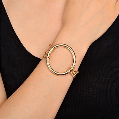 Pentru femei Brățări Bangle La modă Personalizat În Două Părți Multistratificat Metalic Aliaj Circle Shape Bijuterii PentruNuntă