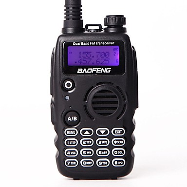 BAOFENG Walkie Talkie Handheld Low Battery Warning PC Software Programmable Voice Prompt VOX Encryption High & Low Power Switchover Dual