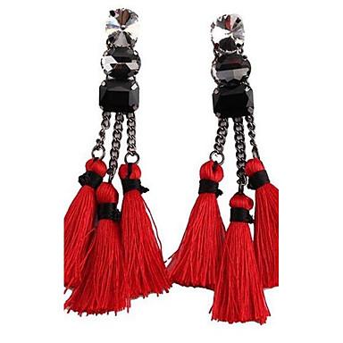 Dames Druppel oorbellen Modieus Bohemia Style Oversized Legering Rechthoekige vorm Sieraden Voor Toneel Feestdagen Uitgaan