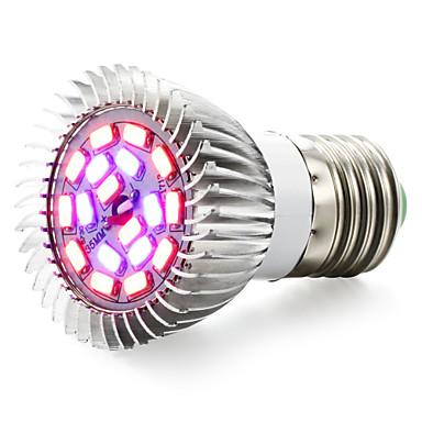 1pc 2500 lm E14 GU10 E26/E27 LED Büyüyen Işıklar 18 led SMD 5730 Kırmızı Mavi AC 85-265V