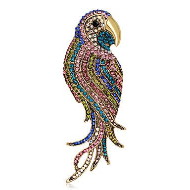 Pentru femei Ștras Personalizat Lux Clasic Vintage De Bază stil minimalist Elegant Modă Cristal Aliaj Altele Geometric Shape Parrot Animal