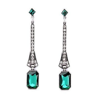 Dames Oversized Bergkristal Oorknopjes - Gepersonaliseerde Vintage Oversized Modieus Emerald Groen Anderen Geometrische vorm oorbellen