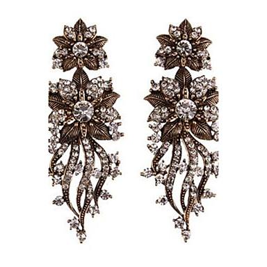 Damen Tropfen-Ohrringe Sexy individualisiert überdimensional Bling Bling Aleación Blumenform Schmuck Für Party Klub