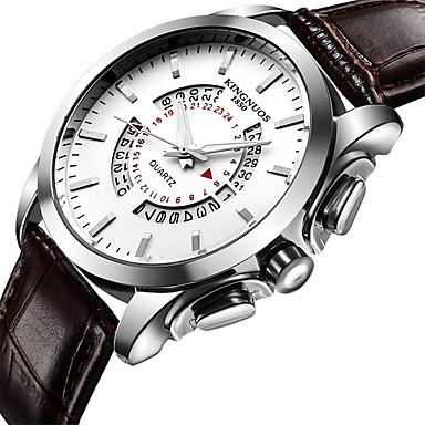 Недорогие Часы на кожаном ремешке-Муж. Повседневные часы Спортивные часы Модные часы Кварцевый Кожа Черный / Коричневый Защита от влаги Творчество Cool Аналоговый Роскошь Классика На каждый день Элегантный стиль -