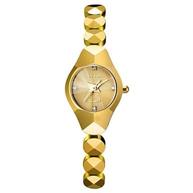 Dames Modieus horloge Kwarts Keramiek Band Zwart Wit Goud Goud Rose