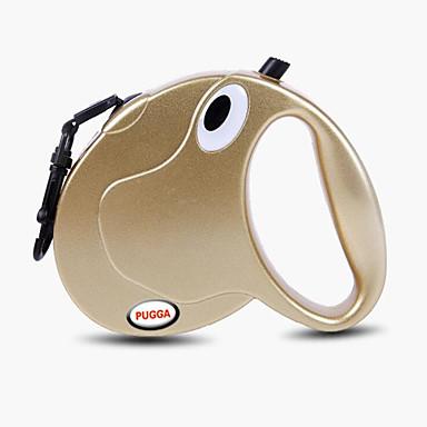 Lese Antrenament Câini Lese Mâinile Leash Free Portabil Zgomot Redus Respirabil Faţă-Verso Automat Mată Nailon Auriu Argintiu
