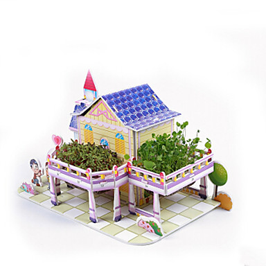 3D-puzzels Legpuzzel Speeltjes Beroemd gebouw Huis Architectuur 3D DHZ Papier Kinderen Stuks