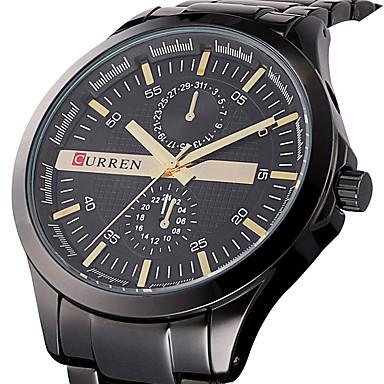 CURREN Heren Sporthorloge Militair horloge Modieus horloge Polshorloge Unieke creatieve horloge Vrijetijdshorloge Kwarts Roestvrij staal