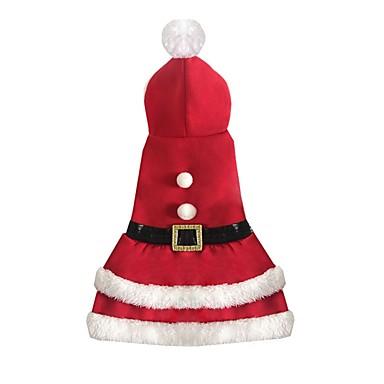 Katze Hund Kostüme Hundekleidung Cosplay Weihnachten Rot Kostüm Für Haustiere