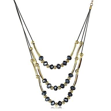 Pentru femei Personalizat Vintage Boem Modă Coliere Choker Coliere cu Pandativ Lănțișoare Zirconiu Cubic Zirconiu Placat Auriu Coliere
