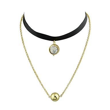 Pentru femei Circle Shape De Bază Modă stil minimalist Coliere Choker Aliaj Coliere Choker . Zilnic Casual